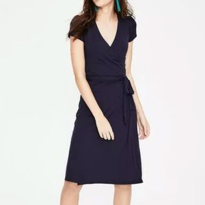 Boden WH754 Navy Blue Summer Wrap Dress